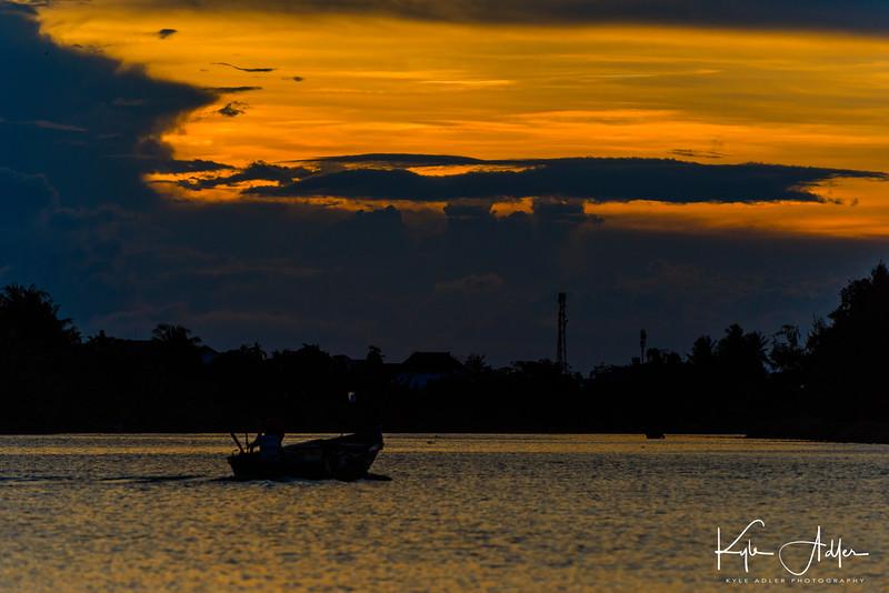 Sunset on the Thu Bon River outside Hoi An.