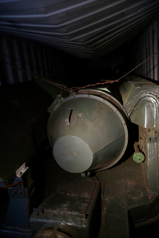 """. A long, green missile-shaped object is seen inside the North Korean flagged ship \""""Chong Chon Gang\"""" docked at the Manzanillo Container Terminal in Colon City July 16, 2013. REUTERS/Carlos Jasso"""