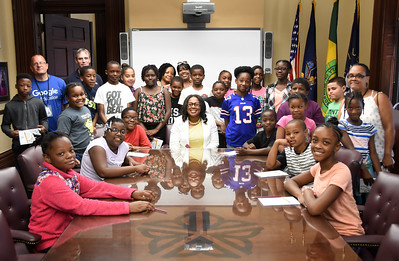 Students meet Mayor Warren and tour City Hall. 7/31/2017