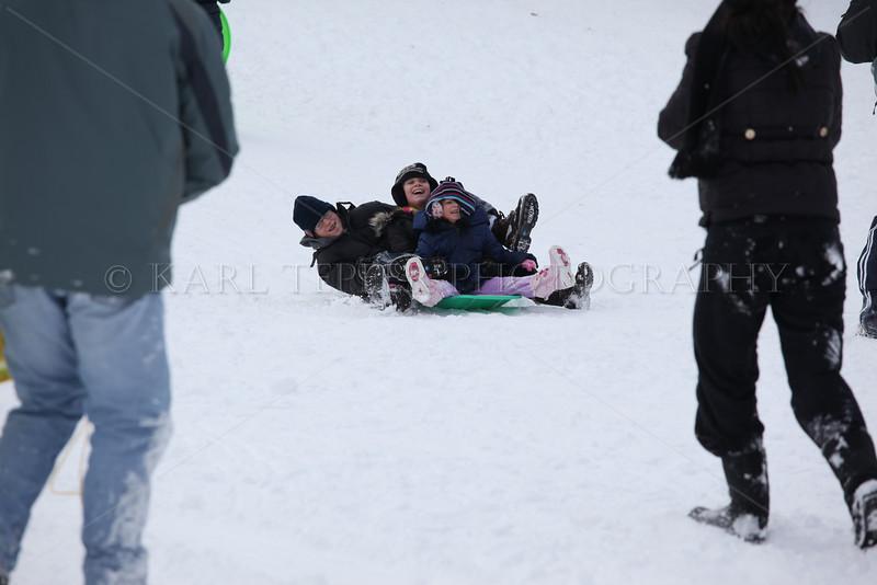 SNOWSTORM!  Sledding at Cedar Creek Park: 1/12/11