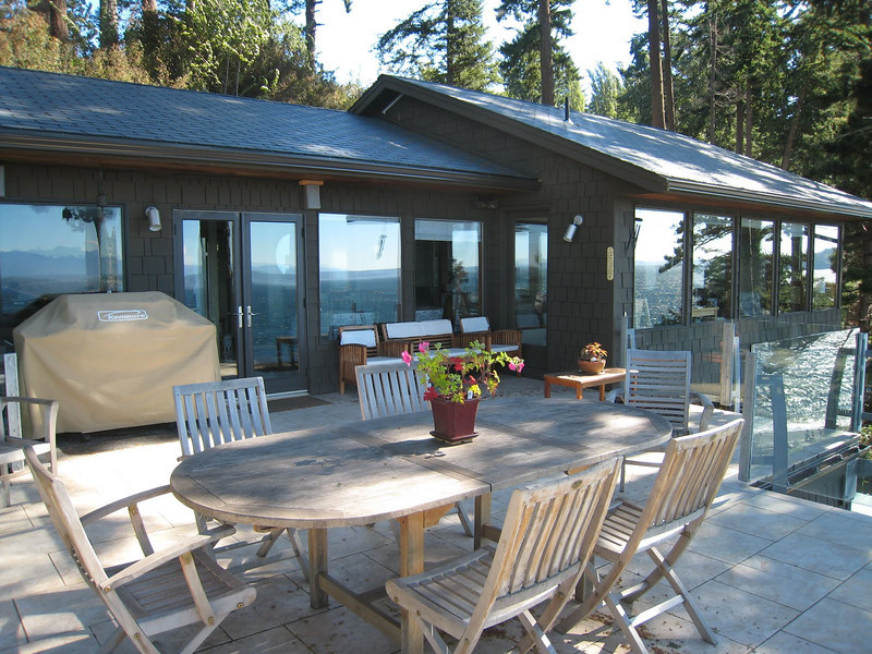 Deck of our Whidbey Island house