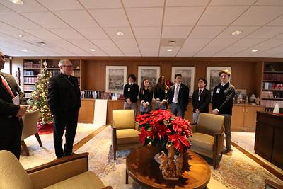 The Prout School visits Bishop Tobin