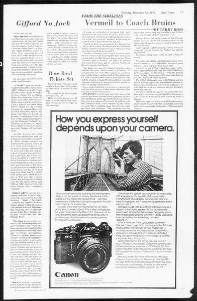 Daily Trojan, Vol. 66, No. 57, December 13, 1973