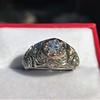 0.94ctw Vintage Old European Cut Diamond Dome Ring, Center OEC (GIA .59ct G SI2) 26