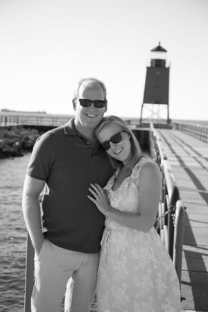 Charlevoix Fall Engagement Wedding Photography Northern Michigan Amber + Joe