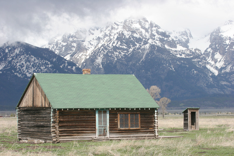 Mormon Row House with outhouse