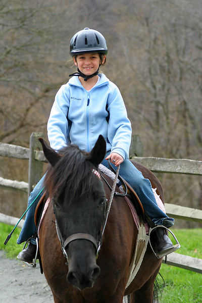 Anisa's horse was bothersome but she seemed to be taking it in stride in this picture.