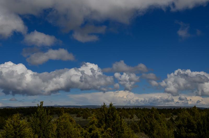 incredible skies on the Plush Cutoff Road