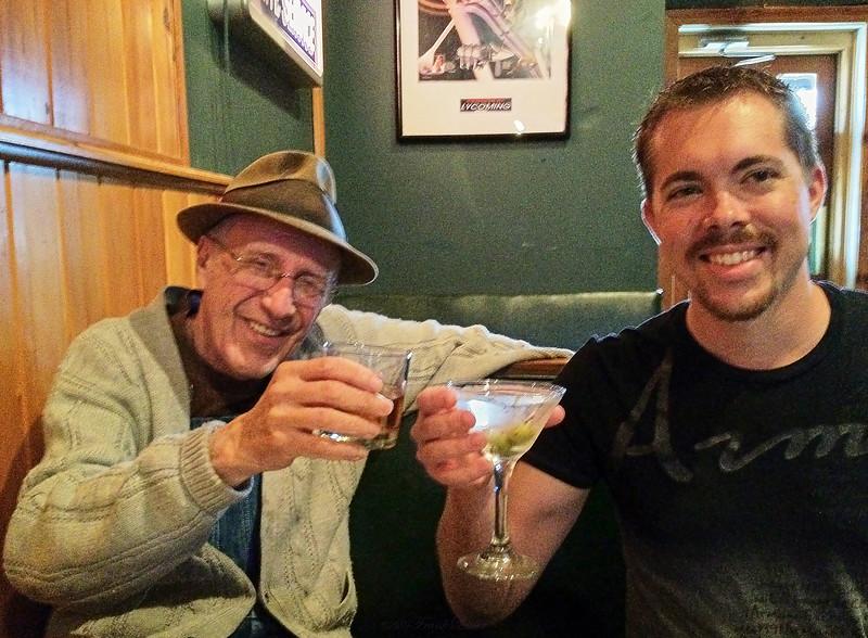 Larry Lebin, Nick, at Hangar 9 in Lock Haven PA. Martini & Jameson. April 12 2013