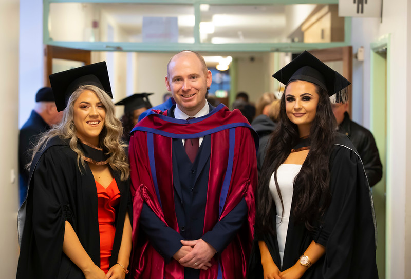30/10/2019. Waterford Institute of Technology (WIT) Conferring Ceremonies are Aoife Keenan New Ross, Paddy Delaney WIT and Anna Flynn Galway. Picture: Patrick Browne