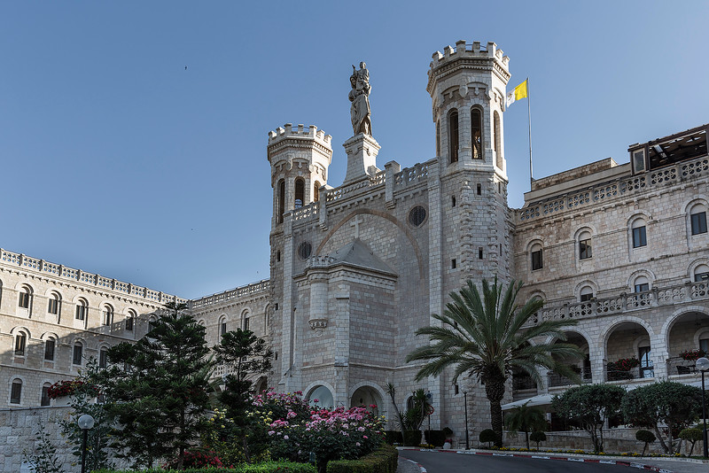 Pontifical Institute Notre Dame of Jerusalem Center, offers hospitality to pilgrims who come from all over the world to visit the Holy Land.