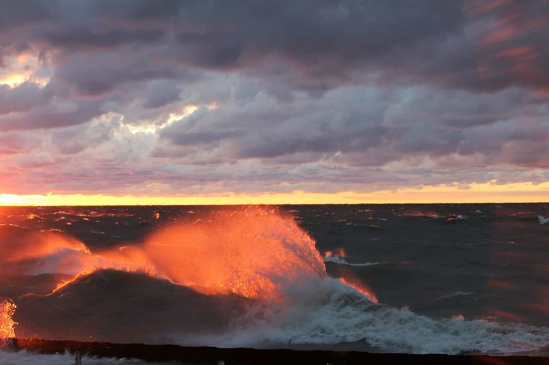 Waves Ablaze