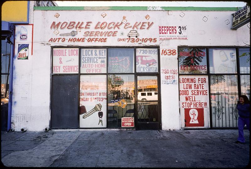 Storefront churches down Jefferson Boulevard to La Cienega Boulevard, Los Angeles, 2004