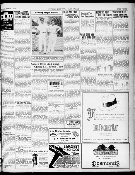 Southern California Daily Trojan, Vol. 21, No. 97, March 07, 1930