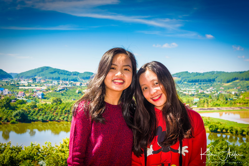 I captured this portrait of two Vietnamese girls at the coffee plantation in the hills above Dalat.
