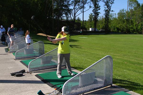 Jackie Golfing