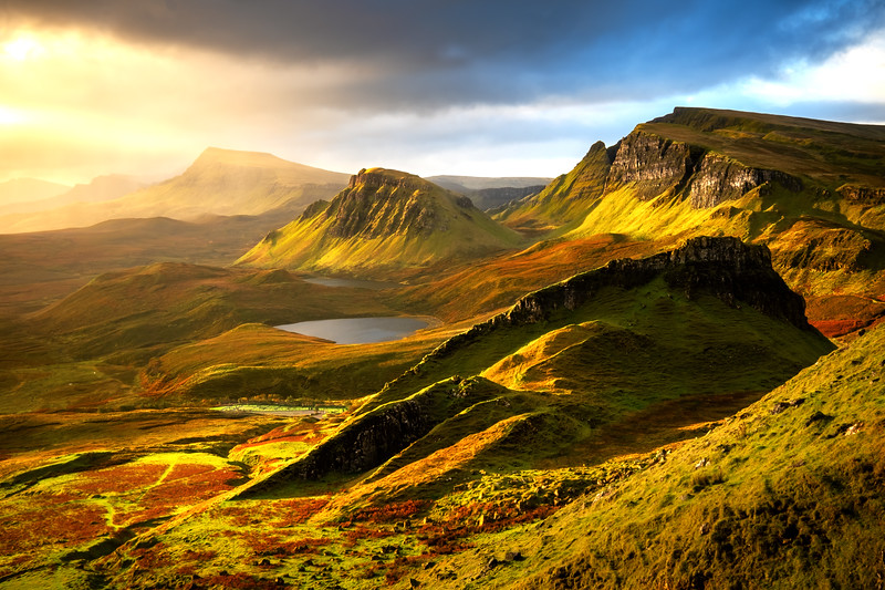 Morning light in Quiraing