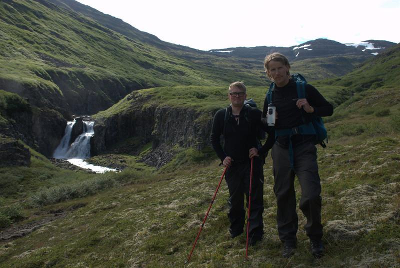 Benedikt og Egill á leið upp úr Hestfirði