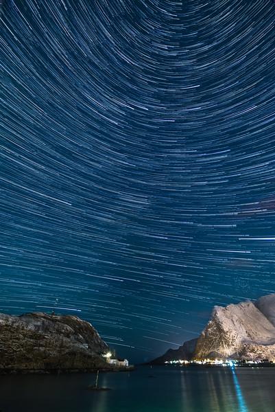 Circling Stars over Lofoten