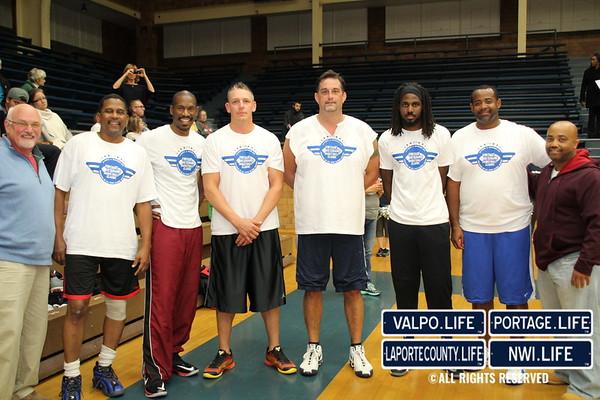 La Porte County YMCA Veterans Basketball Game 2016