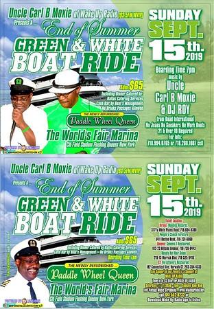 "CARL B MOXIE ""GREEN & WHITE BOAT RIDE""(20)"