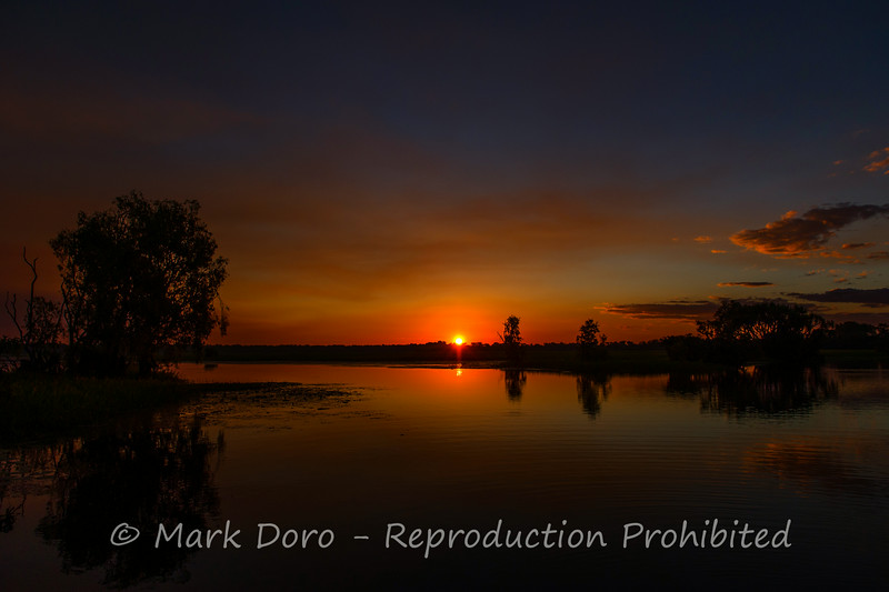 Sunset on Yellow Water Billabong, Kakadu, Northern Territory