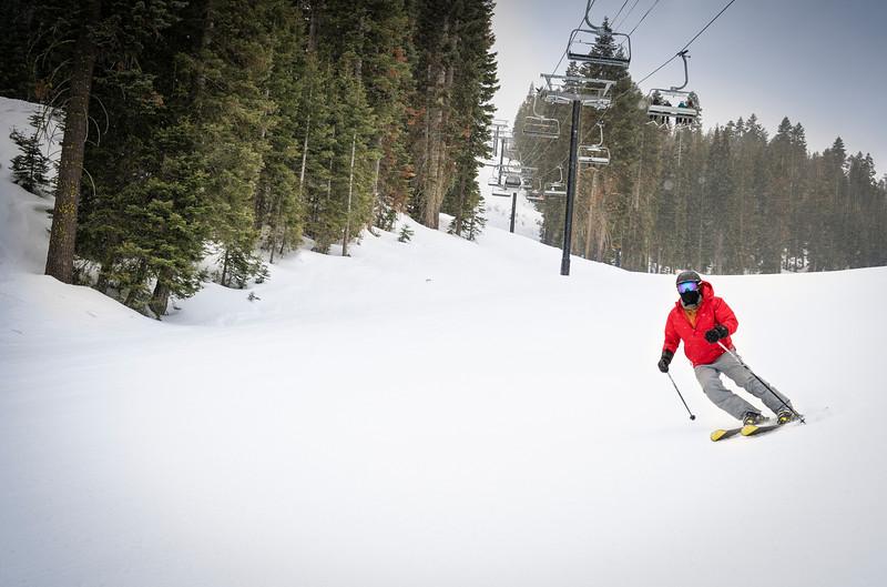 Ski run at Northstar