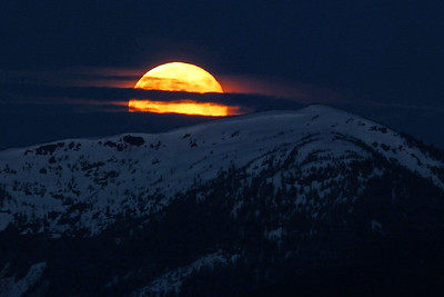 Full Moon -- Corner Bay June 2012, Cynthia Meyer, Tenakee Springs, Alaska