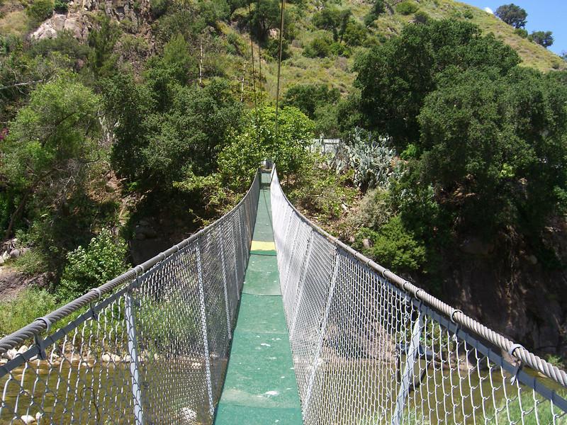 suspension bridge across the Sespe Creek