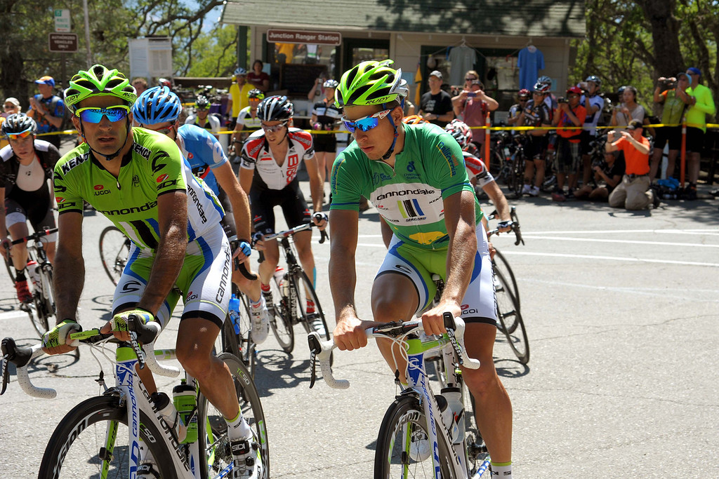 . Peter Sagan with another Cannondale teammate in a group that was 7:50 behind the leaders at this point. (Robert Torre/Special to the Sentinel)