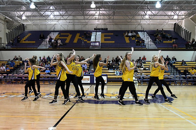 Laker Dance at Basketball vs Parkview 2-14-20