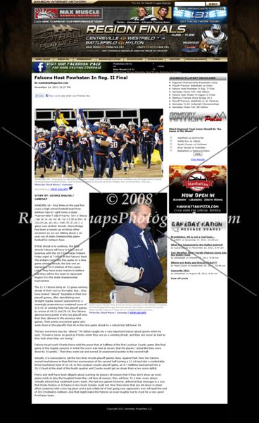 Virginia AA Region Il Final -- Powhatan @ Briar Woods -- 11/25/11