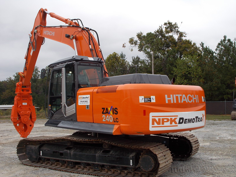 NPK M35K demolition shear on Hitachi excavator at DemoTrax.JPG