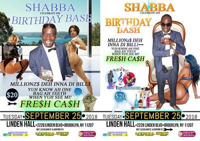 "SHABBA ""BIRTHDAY BASH / FRESH CASH""(20)"