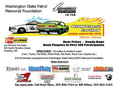 Washington State Patrol Memorial Foundation & Camaro's Unlimited Car Show 08/08/2010