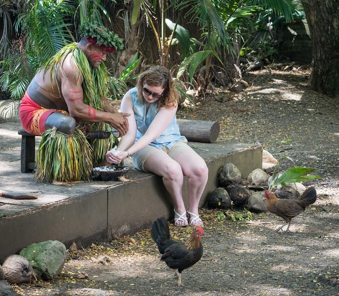 Flaking coconut