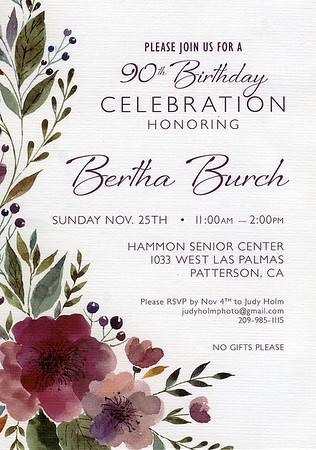 181125 BERTHA BURCH 90TH BIRTHDAY PARTY