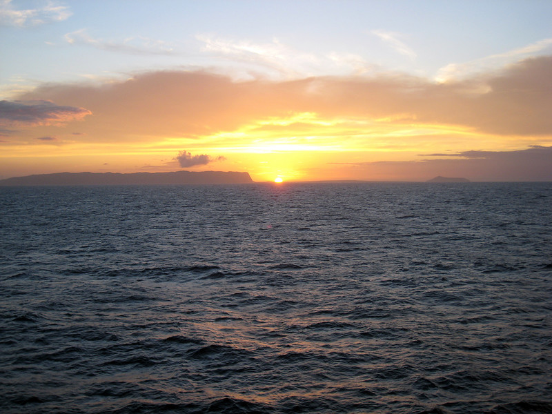 Cruising Kauai Sunset