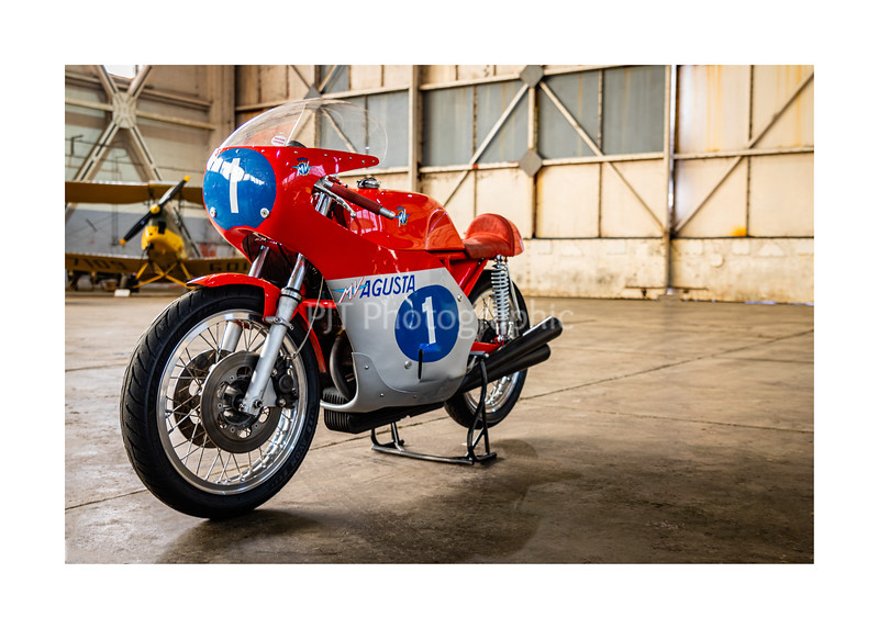 MV Agusta GP bike in colour