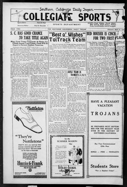 Daily Trojan, Vol. 17, No. 154, May 28, 1926