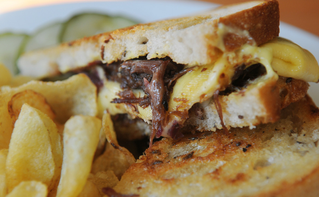 . The beef short rib reuben is made with braised red cabbage, caramelized onions, Gouda and whole grain mustard mayo on caraway rye. (Pioneer Press: Jean Pieri)