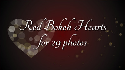 Red Bokeh Hearts for 29 photos