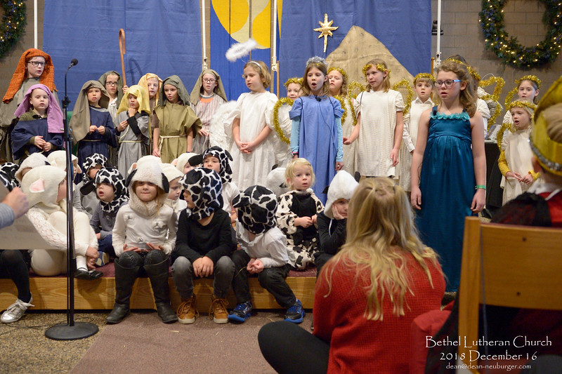 Bethel Children Christmas Story 2018 December 16, Bethel Lutheran Church, Northfield, Minnesota  USA