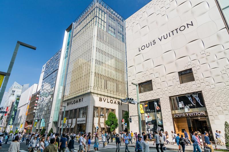 Chuo Dori Street in Ginza. Editorial credit: Korkusung / Shutterstock.com