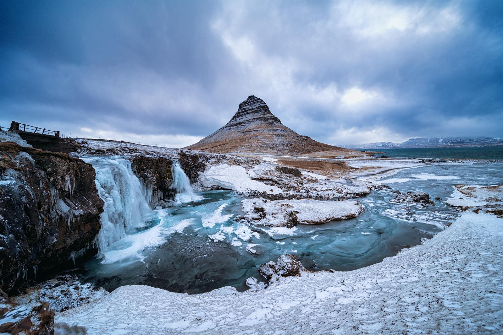 Kirkjufell in the winter