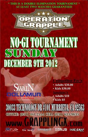 Dec 9, 2012 Temecula CA Operation Grapple NOGI