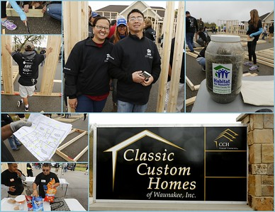 Classic Custom Homes Frame Up for Habitat 10.12.2017