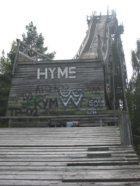 Ski jumping hill in Hyvinkaa, Finland