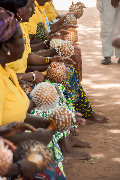 Women during traditional dance in Lome, Togo