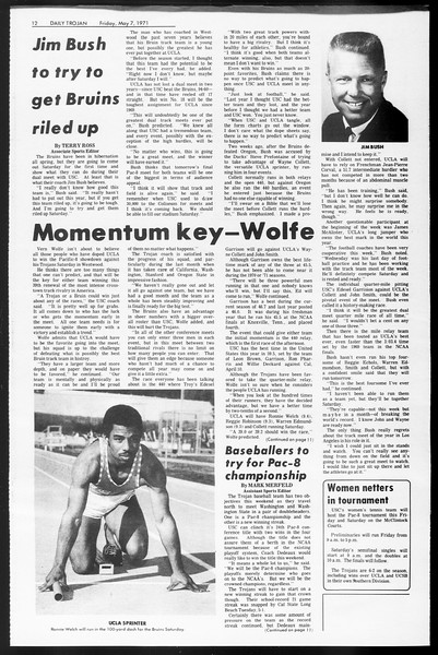Daily Trojan, Vol. 62, No. 119, May 07, 1971